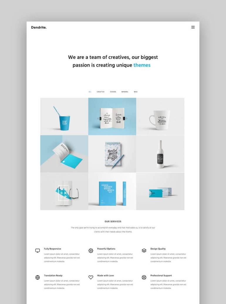 Dendrite portfolio theme
