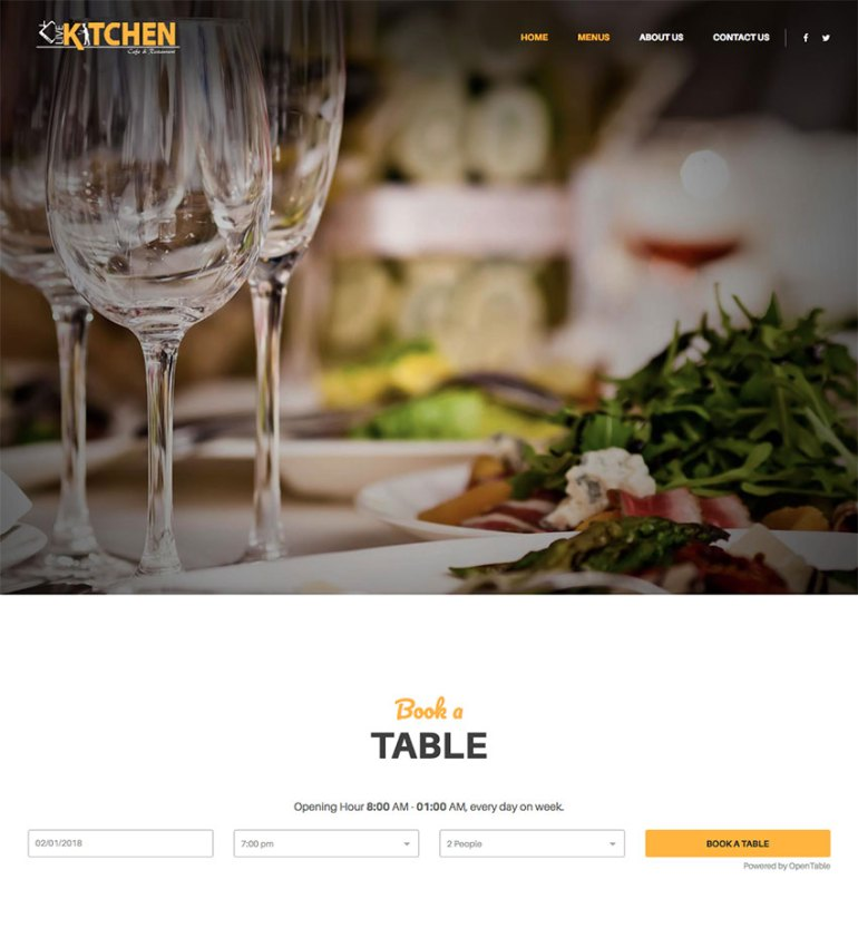 LiveKitchn restaurant website