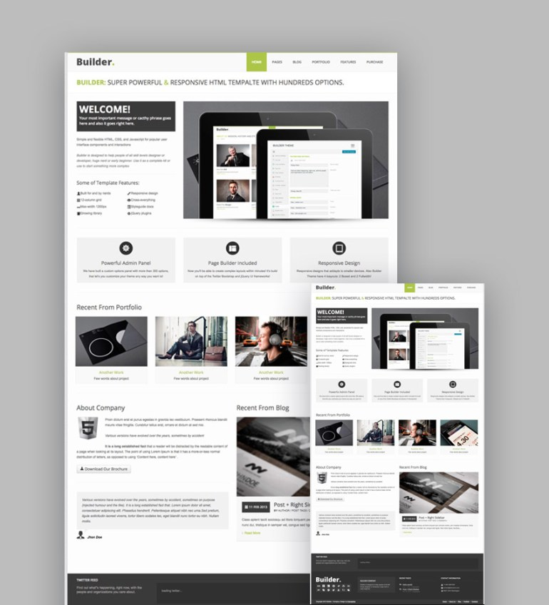 Builder responsive HTML5 template