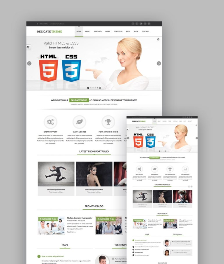 Delicate responsive template