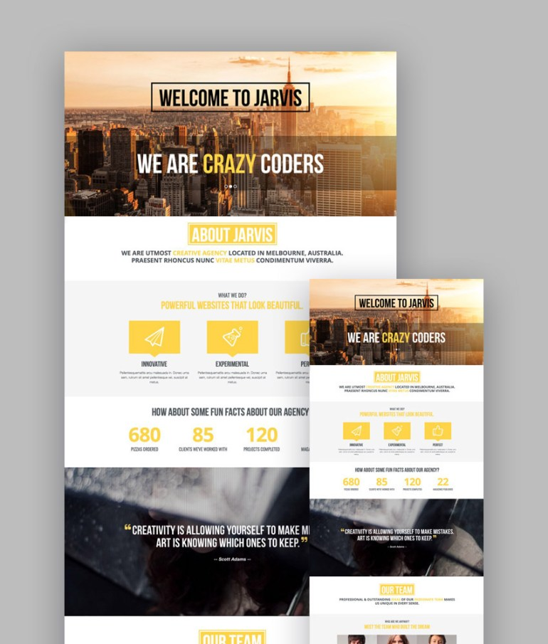 Jarvis responsive template