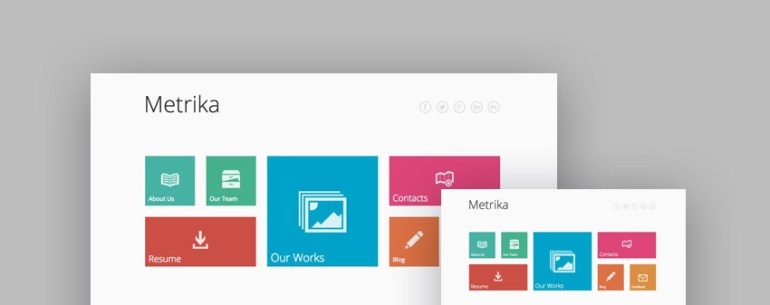 Metrika responsive one page template