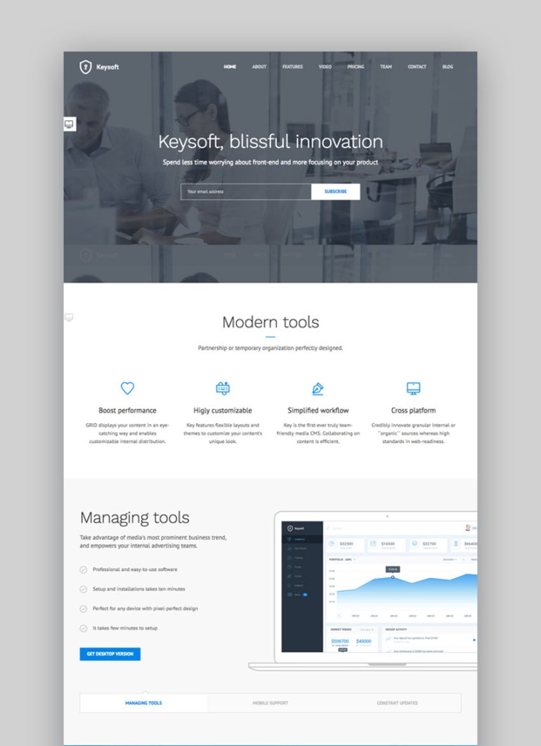 Keysoft WordPress Landing Page