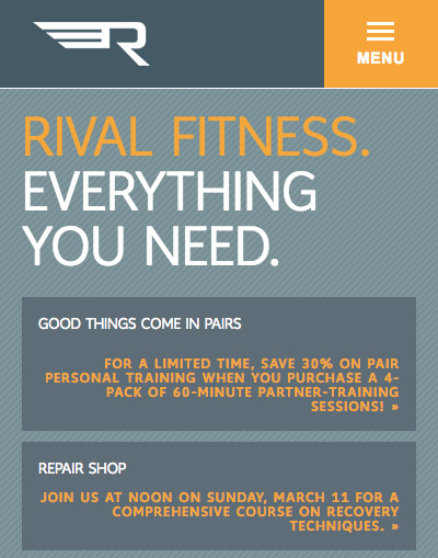 Rival Fitness mobile