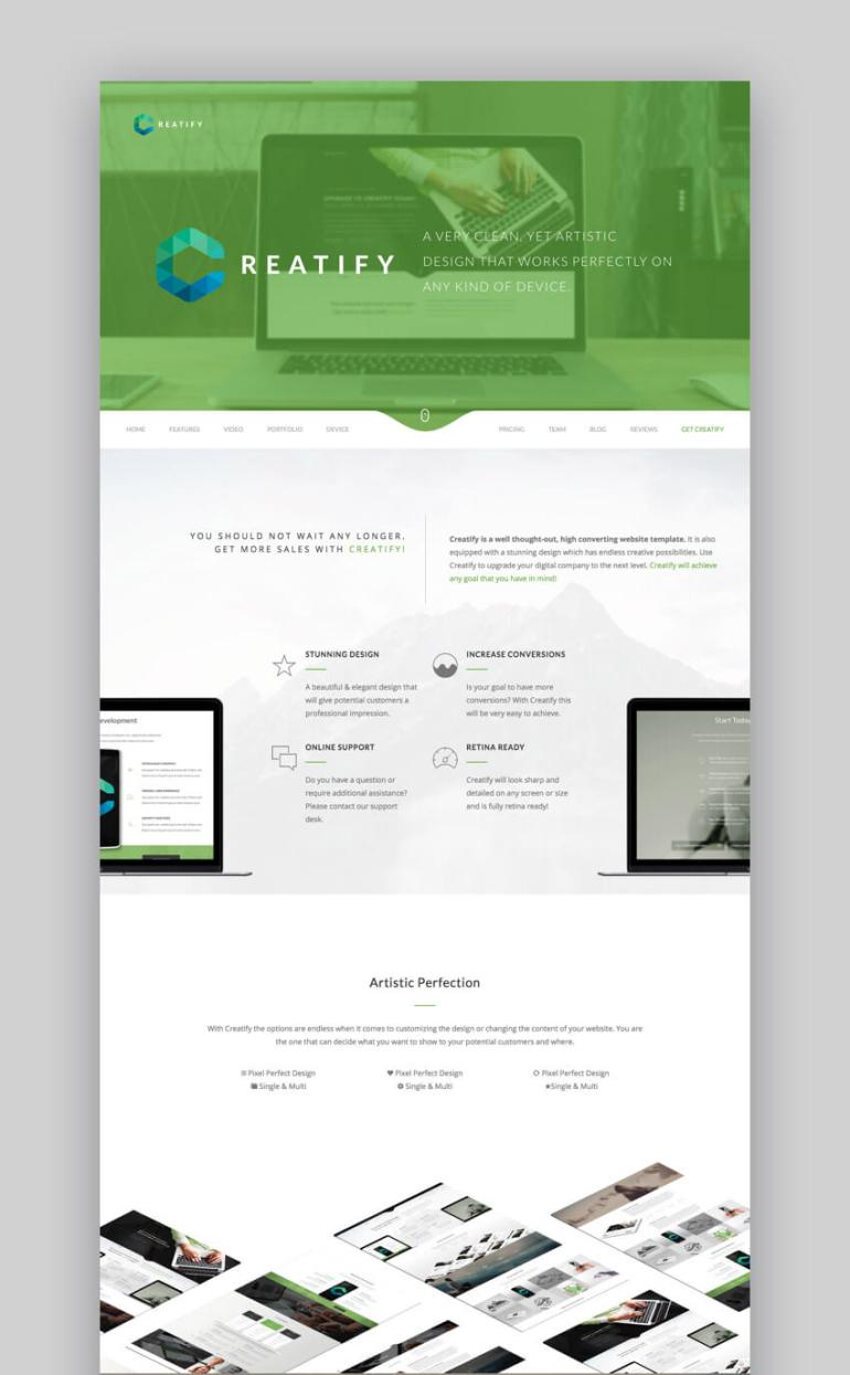 Creatify small business WordPress theme