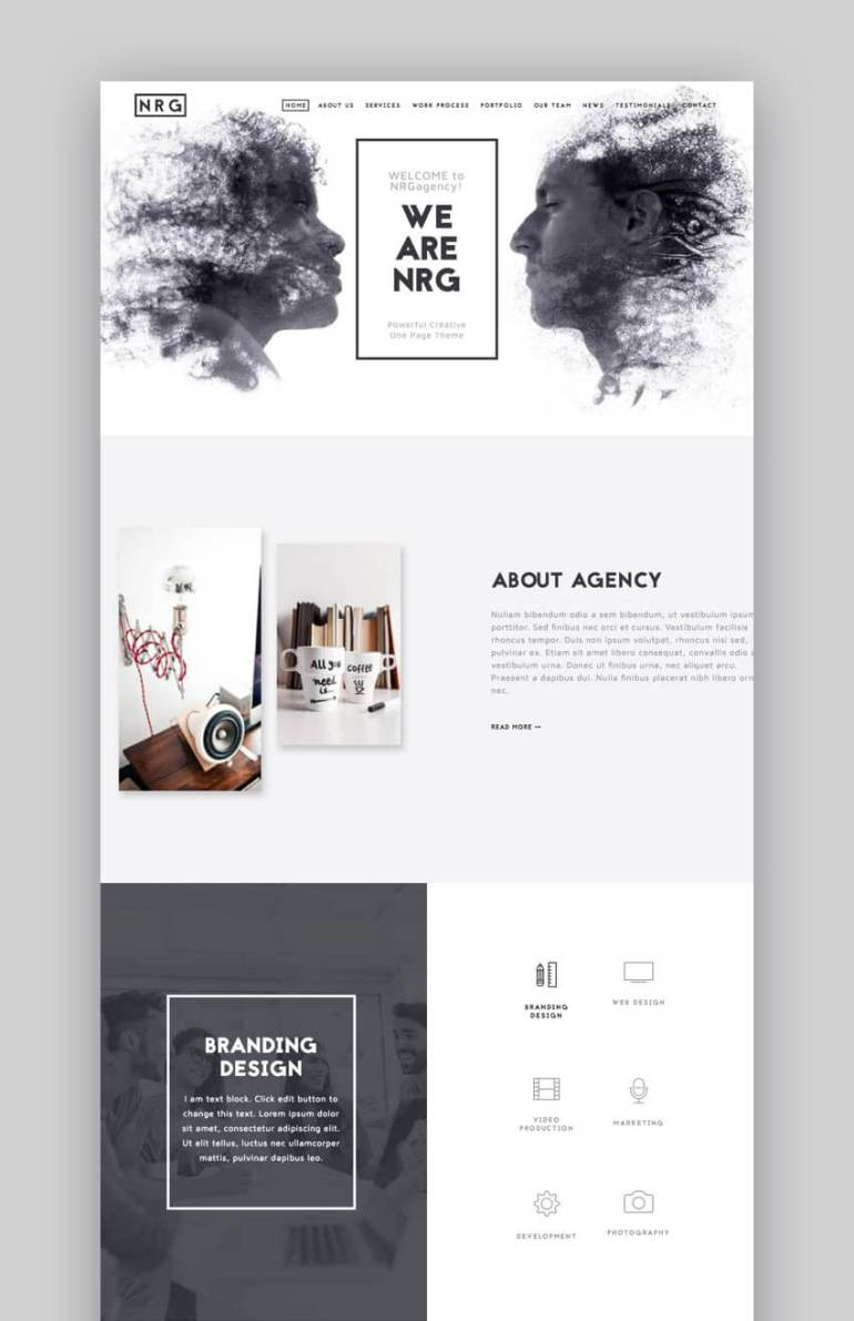 The Agency small business WordPress theme