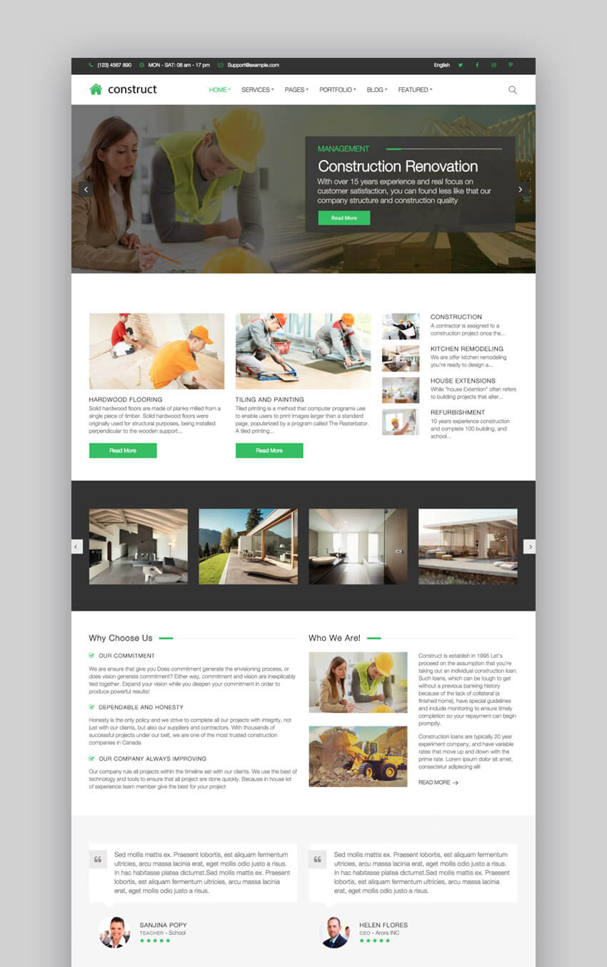 20 Best Construction Company WordPress Themes for Building