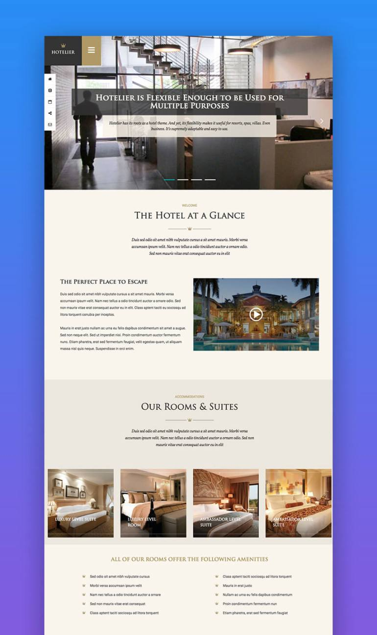 Hotelier SEO WordPress theme