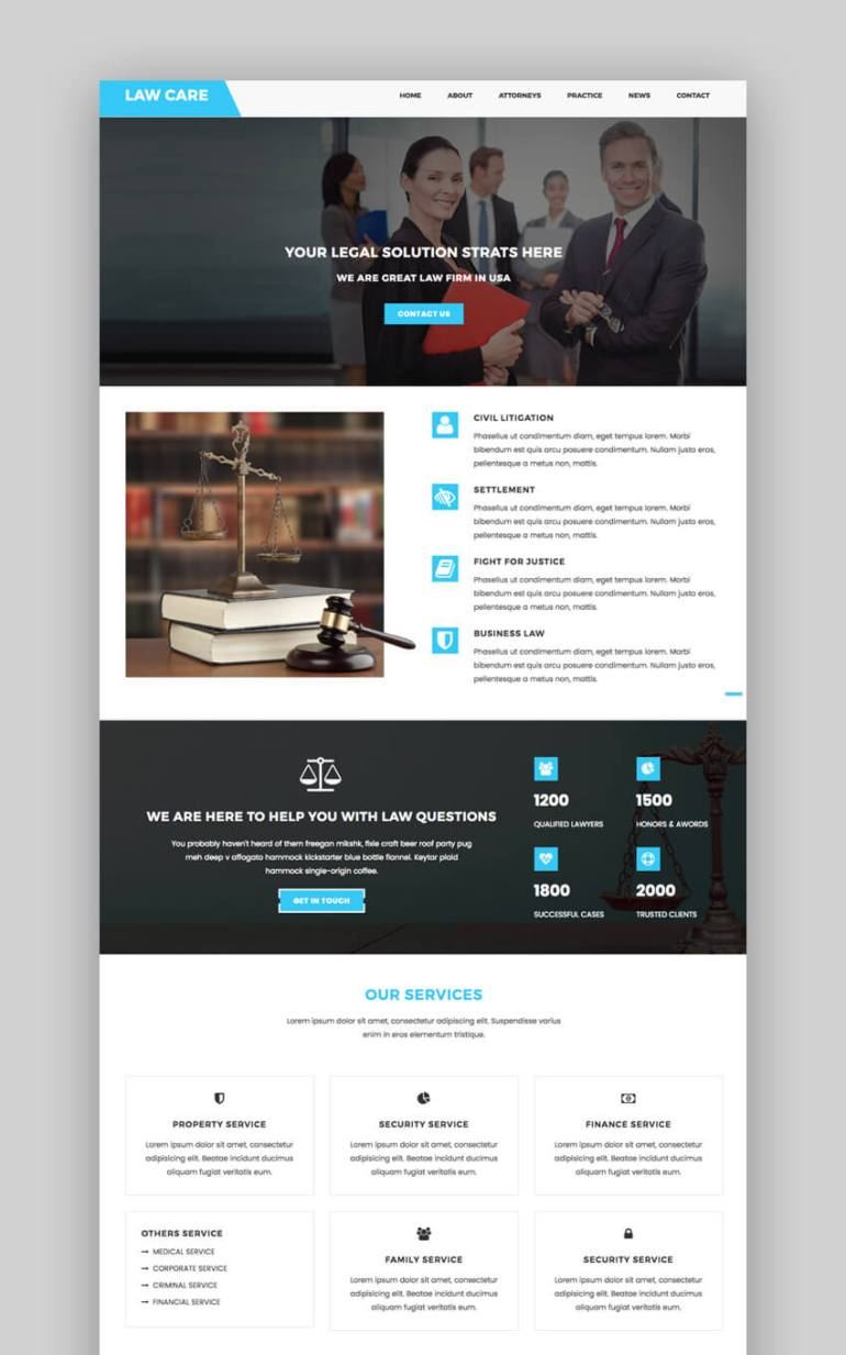 LawCare lawyer template