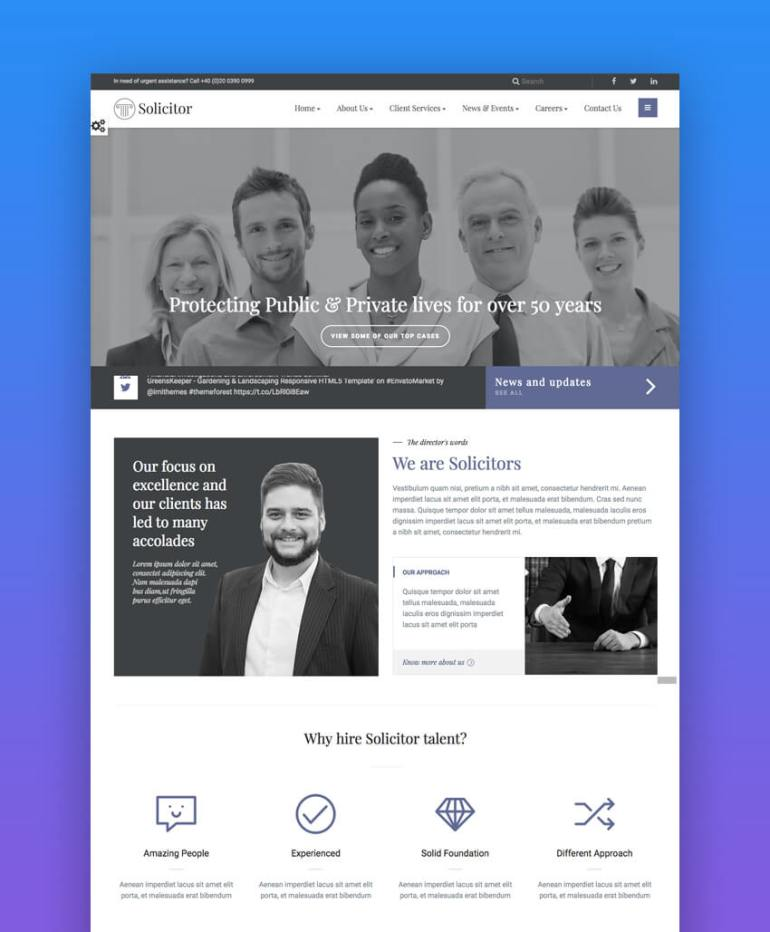 15+ Top Responsive HTML Lawyer (Law Firm) Website Templates – www 101