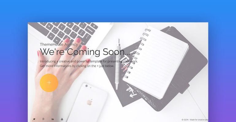 IQON coming soon landing page