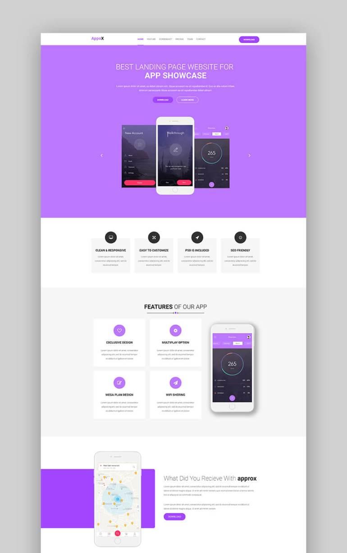Appox app landing page template