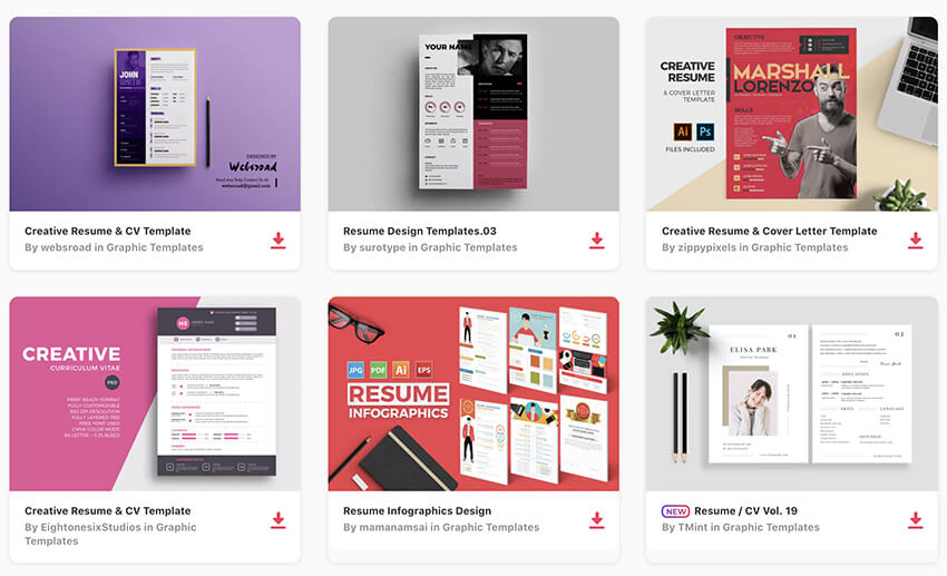 20 Top Visual Resume Templates For Artists & Creatives For