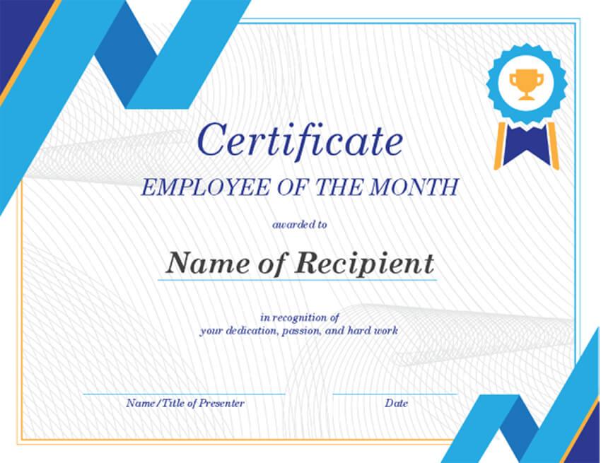 formatos de reconocimientos para empleados