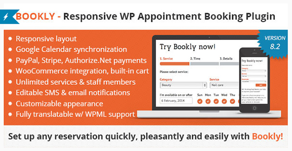 Bookly - Book Appointments Book Services Book Anything Easy and Fast Booking for Your Clients
