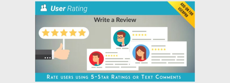 User Rating  Review Add on for UserPro