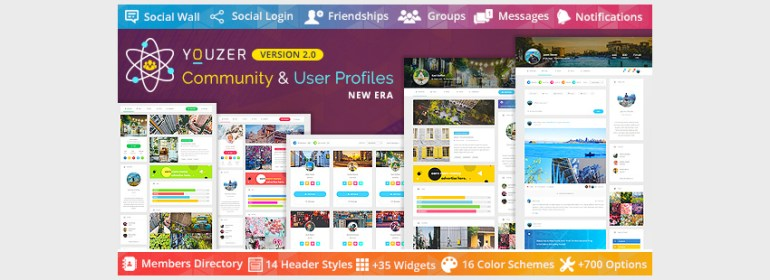 Youzer - WordPress Community  User Profiles New Era