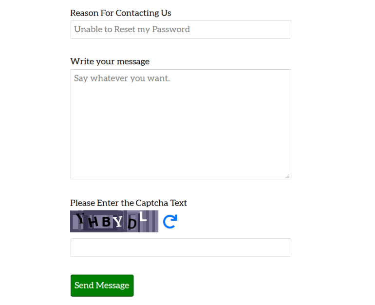 PHP Contact form with CAPTCHA