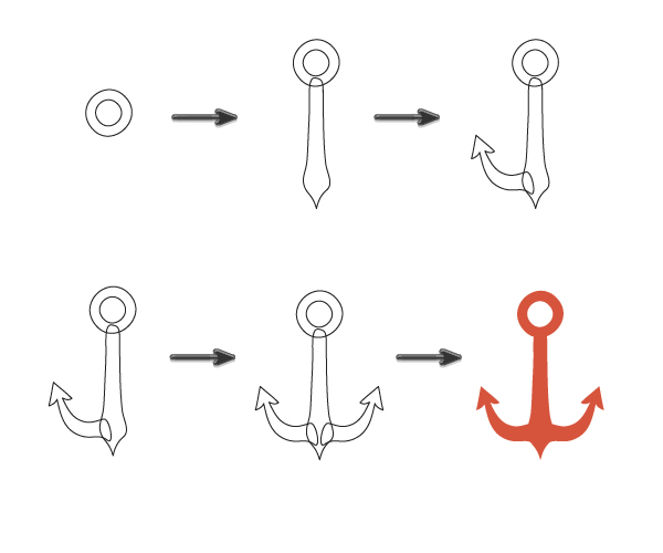 How to Create a Seamless Vintage Nautical Life Pattern in