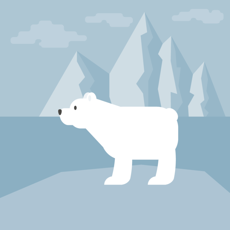 creating another leg of the polar bear