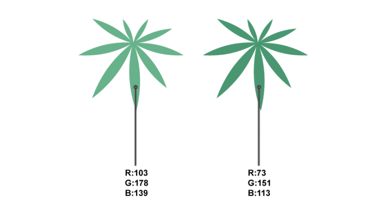 how to create the palm leaves