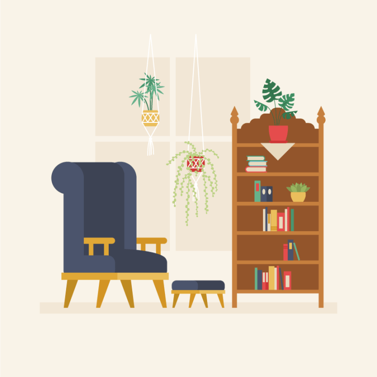 placing all the objects on the background