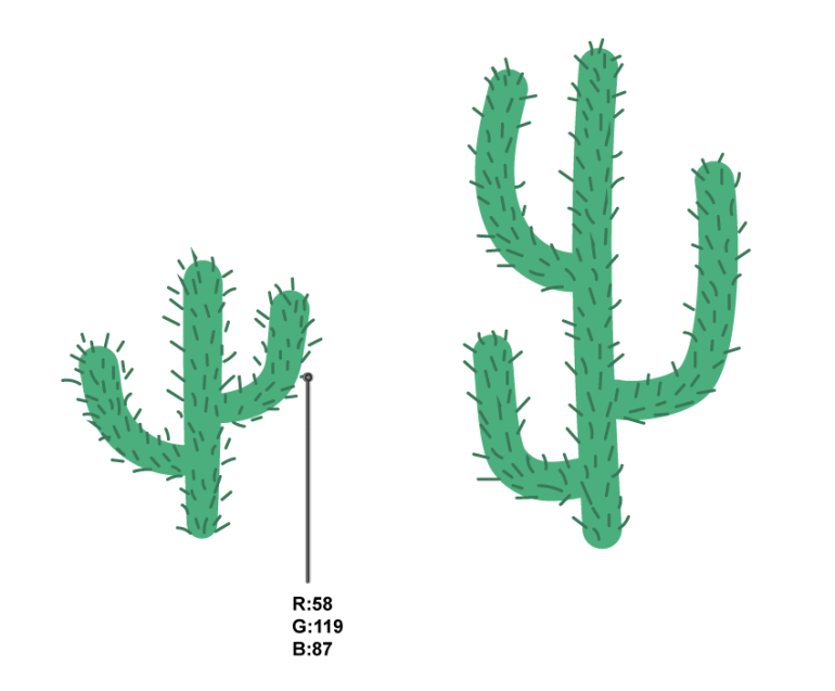 how to add the prickles on the cacti