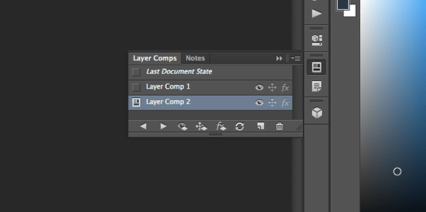 Layer Comps in Photoshop CC 2014