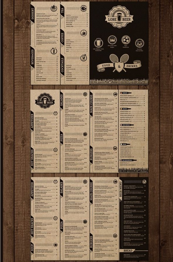 Tampilan Menu Bar : tampilan, Restaurant, Templates, Creative, Designs