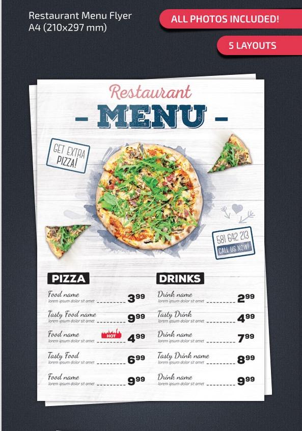 Contoh Menu Dalam Bahasa Inggris : contoh, dalam, bahasa, inggris, Restaurant, Templates, Creative, Designs