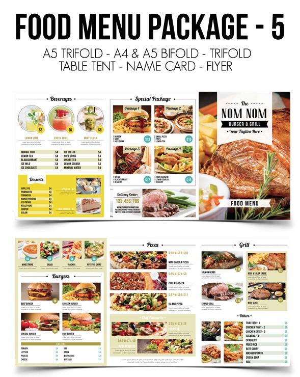 Food Menu Template Package 5