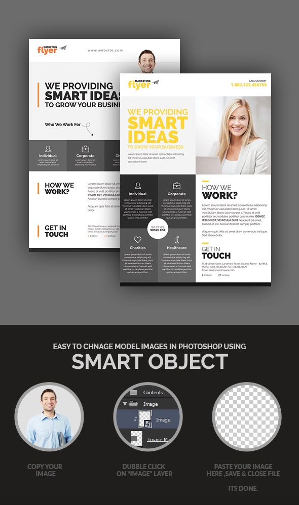 CorporateMarketing Flyer Design Set