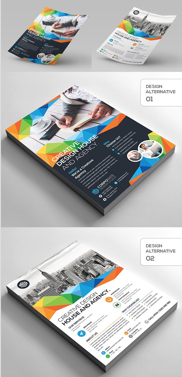 Flyer aziendale creativo 2-Design
