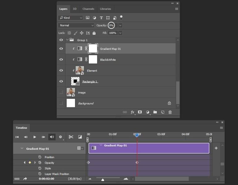 Creating the animation for gradient map