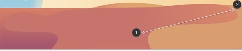 Fourth sand dune - first gradient