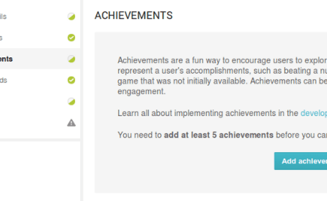 Google Play Game Services Achievements