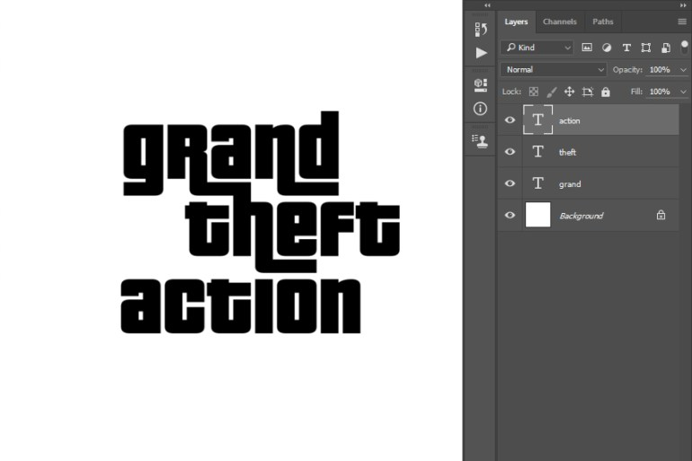 Positioning text layers