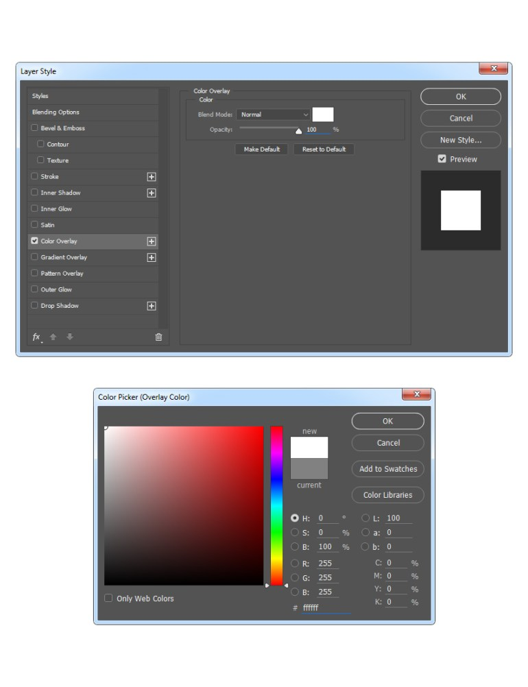 Changing blending options