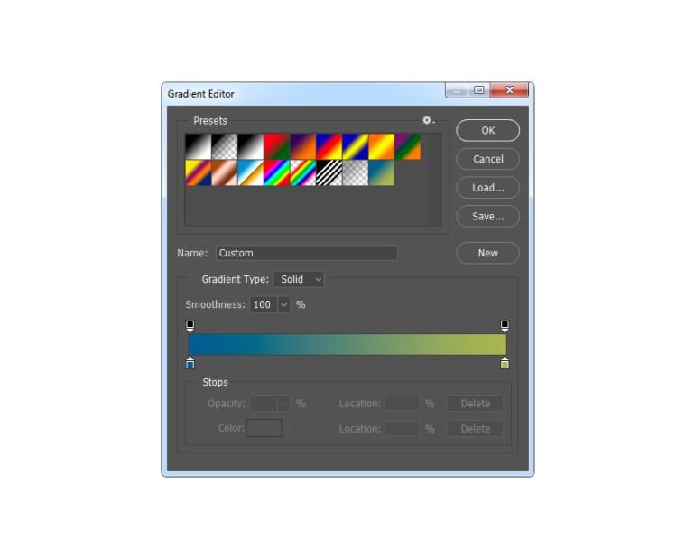 Adjusting gradient map