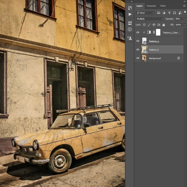 Changing blending mode and opacity