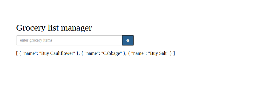 Grocery Component With Tasks Info