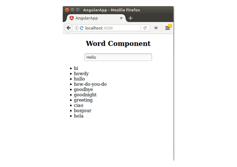 Word Component With Service