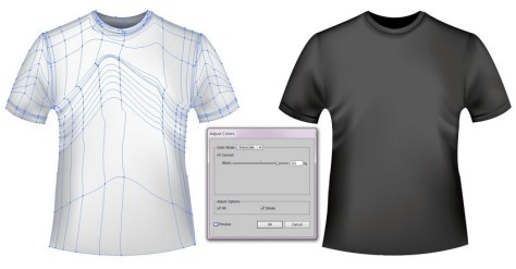 black t-shirt mesh template