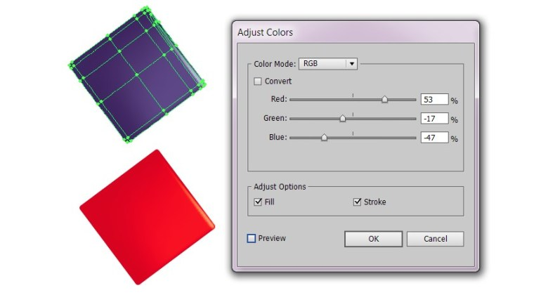 recolor box