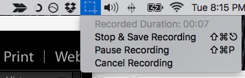 Screencast stop icon