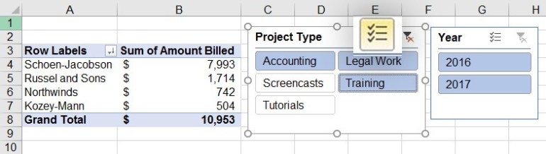 Mutli-select in Microsoft Excel