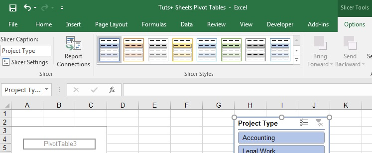 Slicer settings in Excel