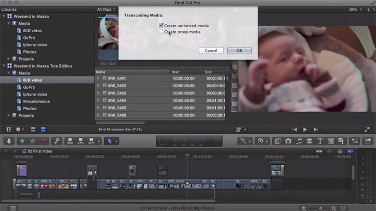 Import footage in Final Cut Pro X
