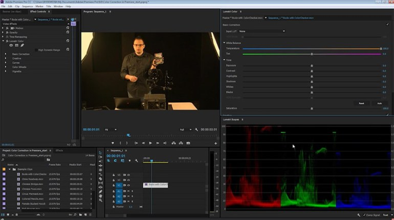 Color Correction in Premiere