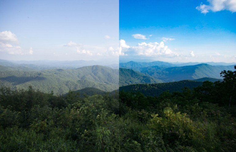 Dehaze imapct on landscape image